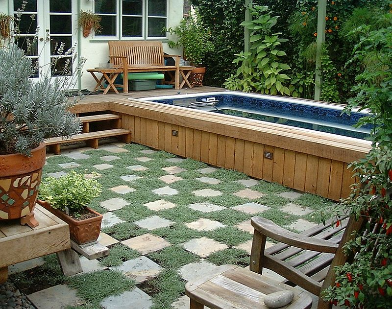 pool landscaping ideas for small backyards ... pool design that keeps things simple and understated [design: GCVDFRM